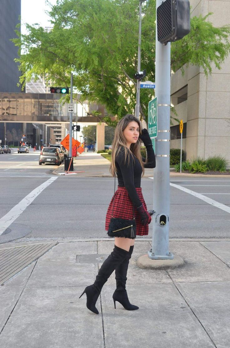 Tight High Boots + Outfit
