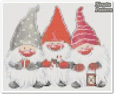 Elfs Cross Stitch Pattern