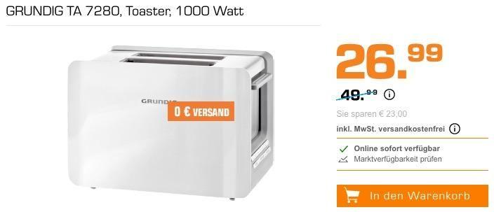 Grundig Ta 7280 Toaster In Weiss Kuche Und Haushalt Toaster Und Haushalt
