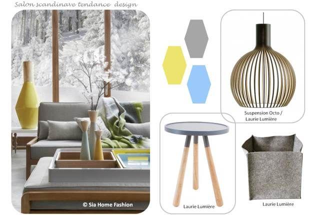 Salon deco scandinave design laurie lumiere planche - Lumiere salon decoration ...