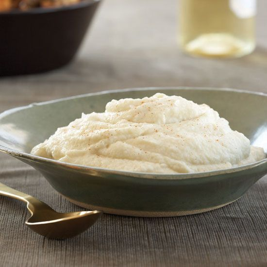 Hot, Buttered Cauliflower Puree   John Besh's decadent cauliflower puree is silky and luscious because it's made with both cream and butter.