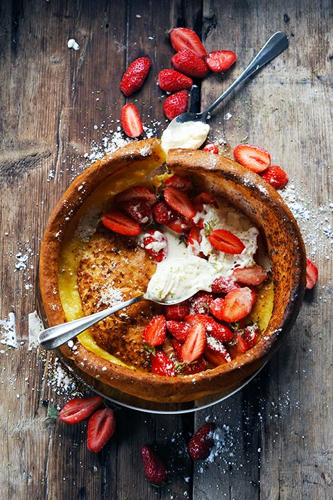 Dutch Baby Pancake fraises et chantilly !