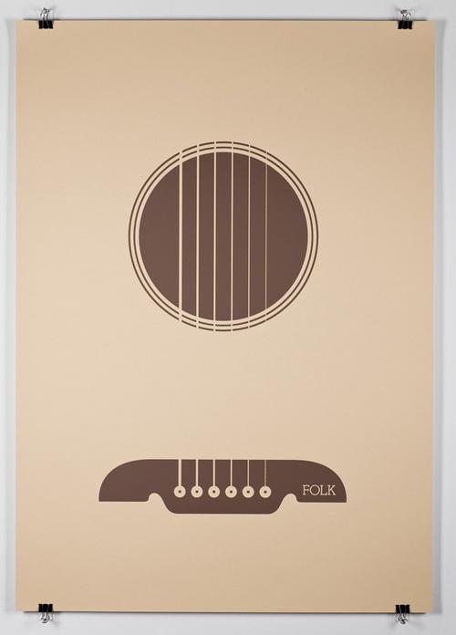 Minimal music posters.