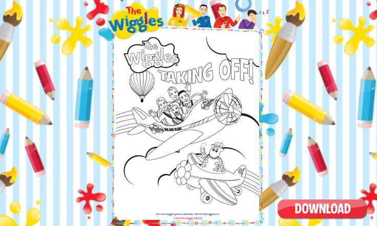 The NEW Wiggles colouring pages Wiggles birthday, The
