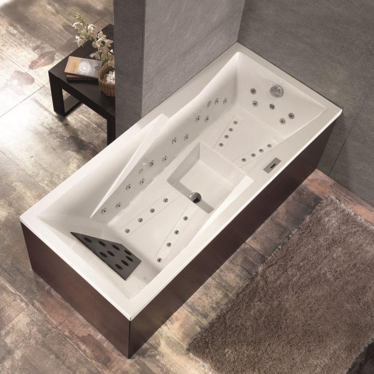 Whirlpool-Badewanne Tecnika  mit 40 Massagedüsen und Balneo Massagesystem