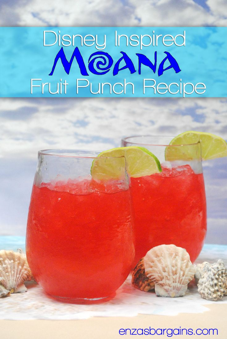 Disney Moana Recipe - Fruit Punch -  Check out this fruity recipe that is Moana Inspired! Also check out the newest info about the movie!