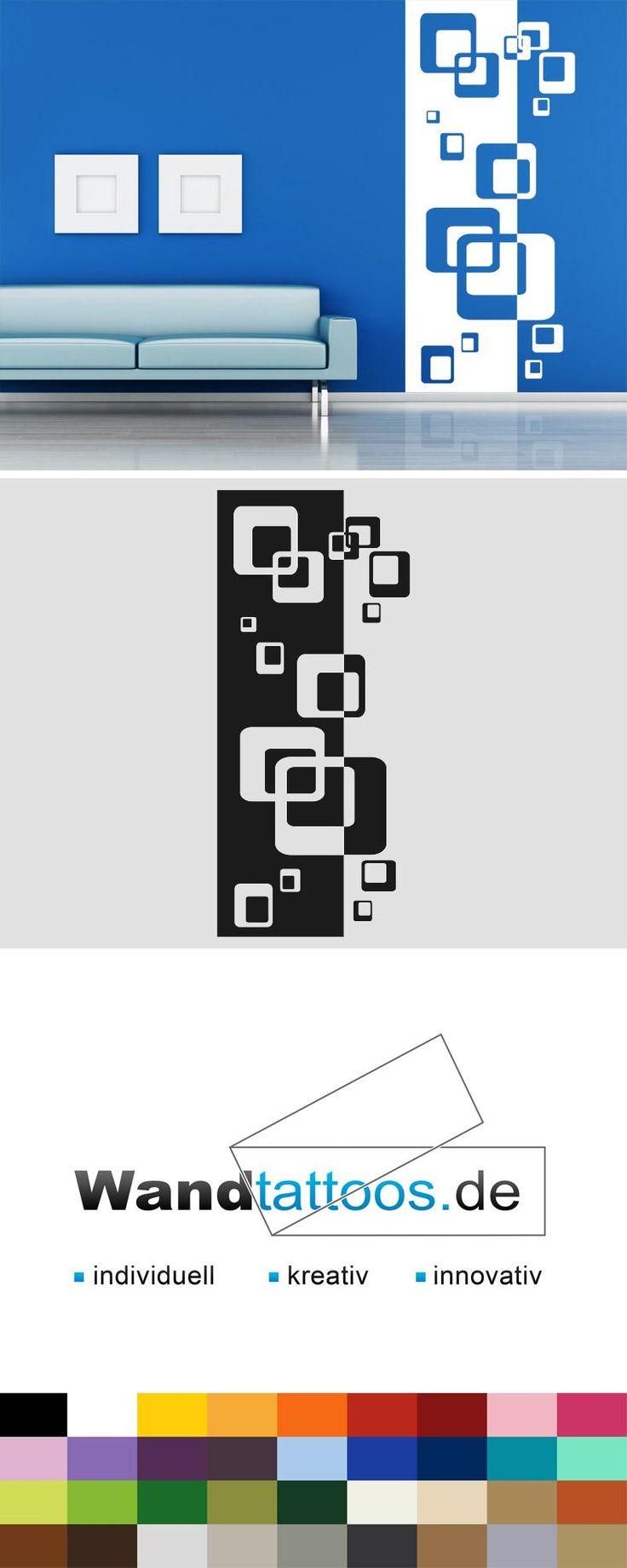 Wandbanner Retro Cubes Wandtattoo Xxl Raumhoch Wall Print Design Creative Wall Decor Wall Paint Designs