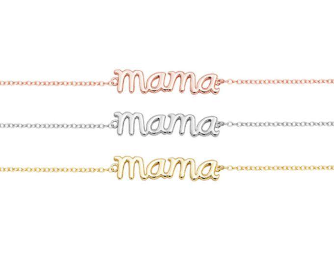 Mama bracelet, sterling silver, mother bracelet
