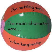Story Ball! After reading a story just toss this around the room and whatever section the students right thumb lands on, they have to answer that question.