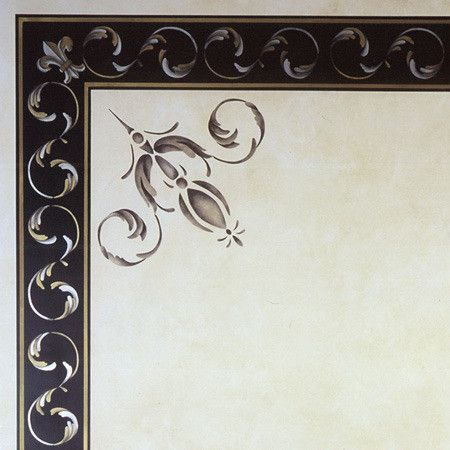Palazzo Scroll Border Stencil by Royal Design Studios    Love the elegance of this design!  Great for ceilings, baseboards, furniture, walls, etc.