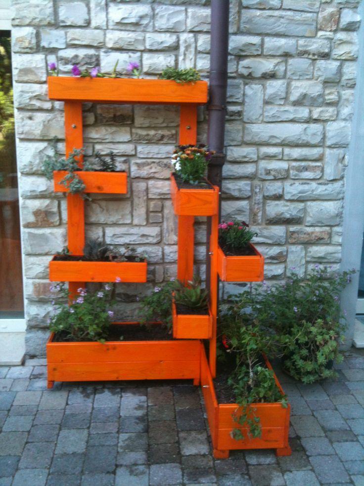 Fioriera in legno riciclato e impermeabilizzato giardino verticale verticalgarden - Cassette da giardino ...