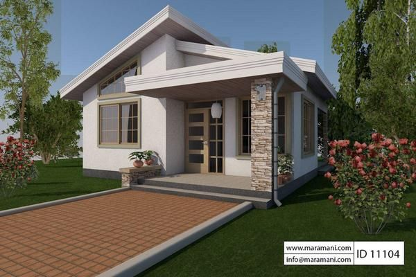 One Bedroom House Design Id 11104 Floor Plans By Maramani In 2020 Small Modern House Plans Simple House Design One Bedroom House