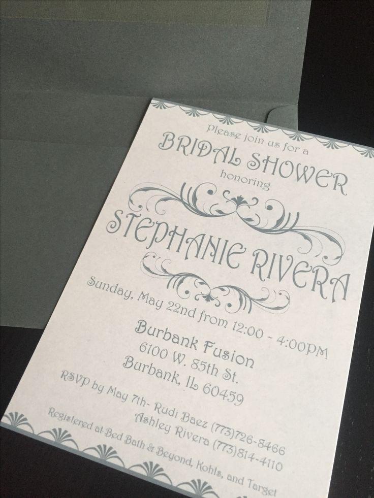 bed bath and beyond wedding invitation kits%0A art deco invites www nicolereyesdesign etsy com