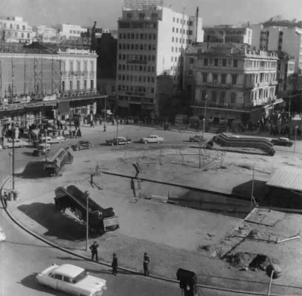 Renovation of Omonia Square, Athens '50s | #Greece