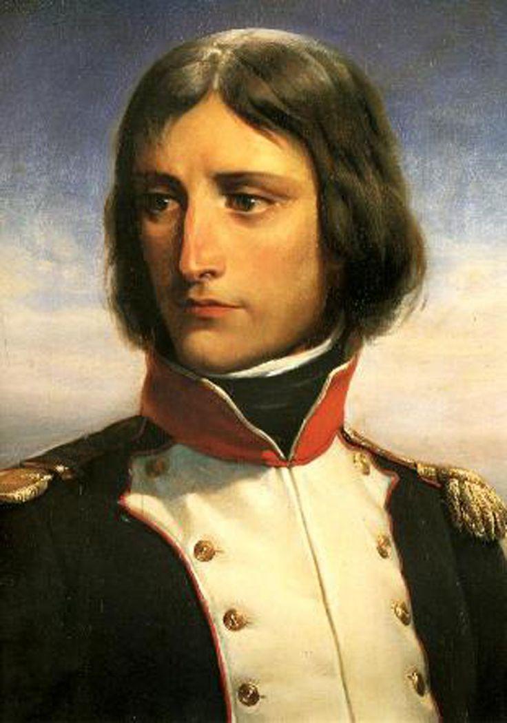 """""""Fortune: The Pug who Bit Napoleon"""" Napoleon Bonaparte age 23 by Henri Félix Emmanuel Philippoteaux, (1815-1884)."""