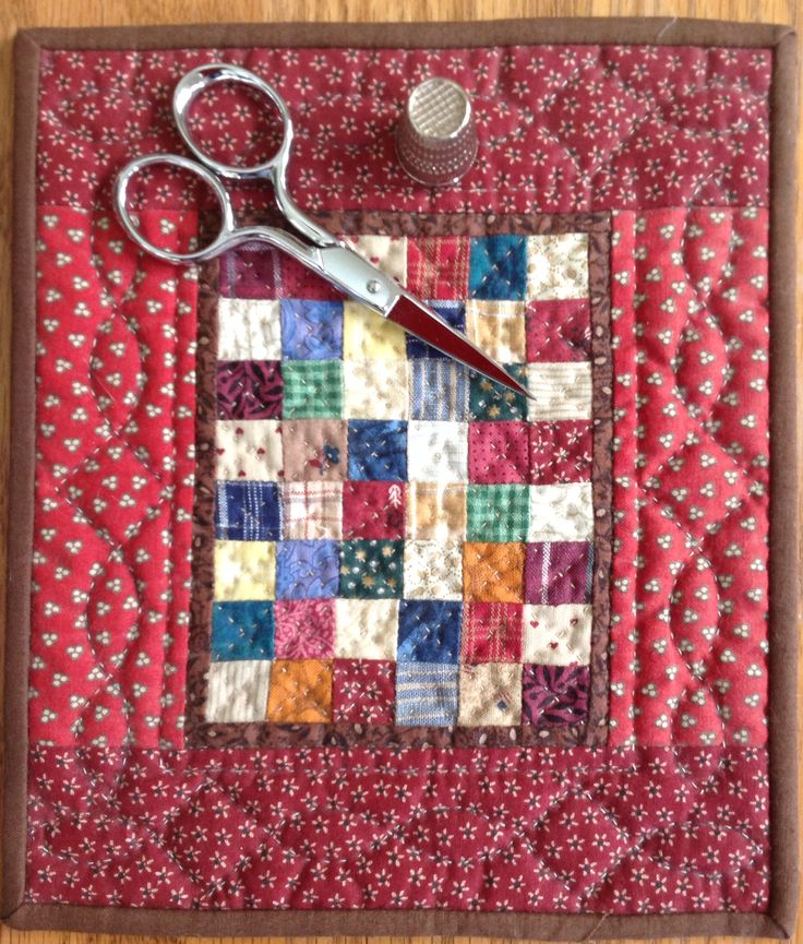 """6"""" x 7"""" Quilt -- not sure why I am so drawn to patchwork these days, but I love this!"""
