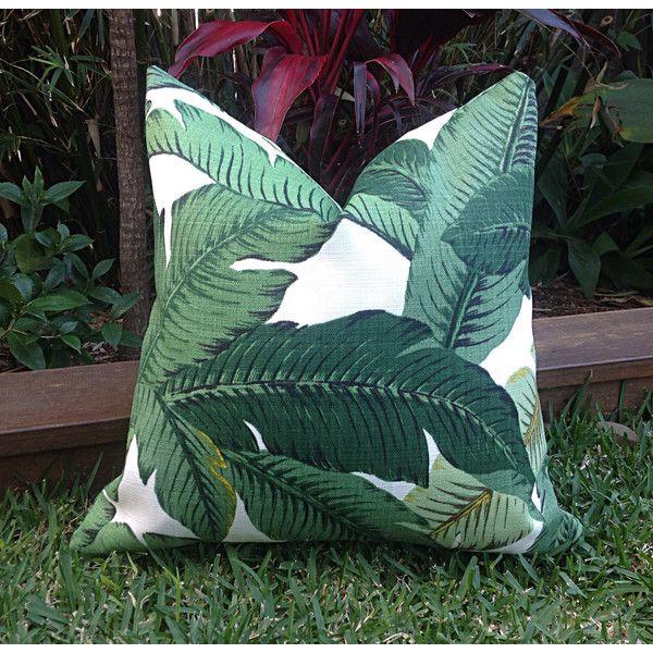 Palm Leaf Cushions Banana Leaf Outdoor Cushions Outdoor Pillows... ($27) ❤. Tropical  Outdoor FurnitureBlack ...