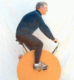 This guy rides for 45min a morning and powers his whole house (computers, lights, the works). Excess energy appears as a credit on his bill. Get skinny, save the planet AND money