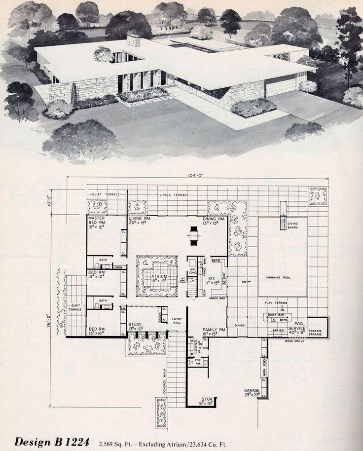 Mid Century Modern Home Plans 26 best eichler floor plans images on pinterest | modern floor