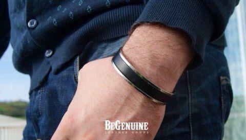 Men Leather Bracelet personalized, Husband Gift, Men jewelry, Fiancé Gift, Stainless Steel Bracelet, Boyfriend gift, Leather Anniversary