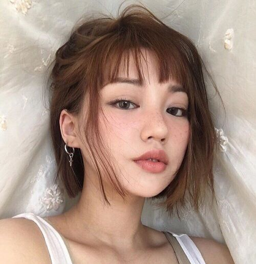 haircut for hair with bangs best 25 korean makeup ideas on korean eye 3897