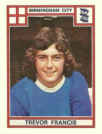Trevor Francis of Birmingham City in 1975.