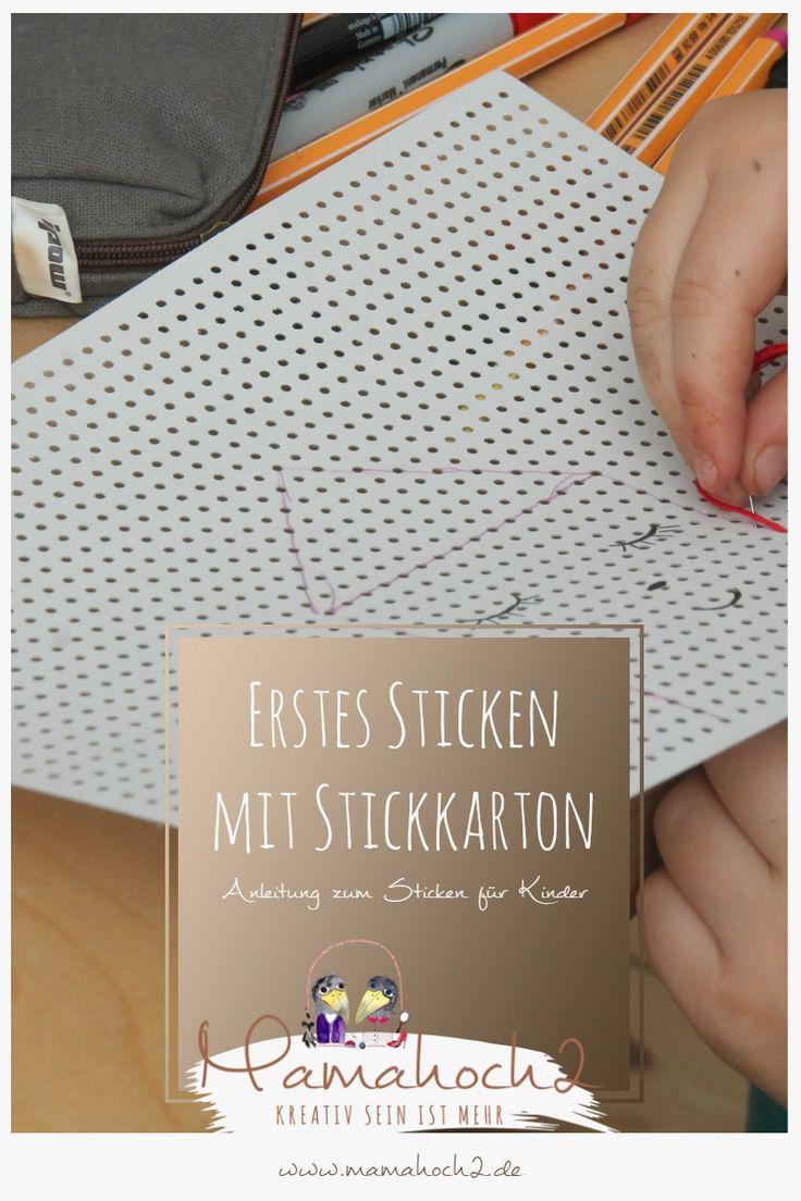 sticken f r kinder mit stickkarton sticktwist selfmade. Black Bedroom Furniture Sets. Home Design Ideas