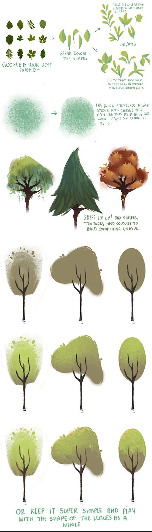 Super simple stylized tree tutorial.   You can download the brushes here: https://www.dropbox.com/s/sl3d5em49sme2bj/Brushes_Jan_2014.abr