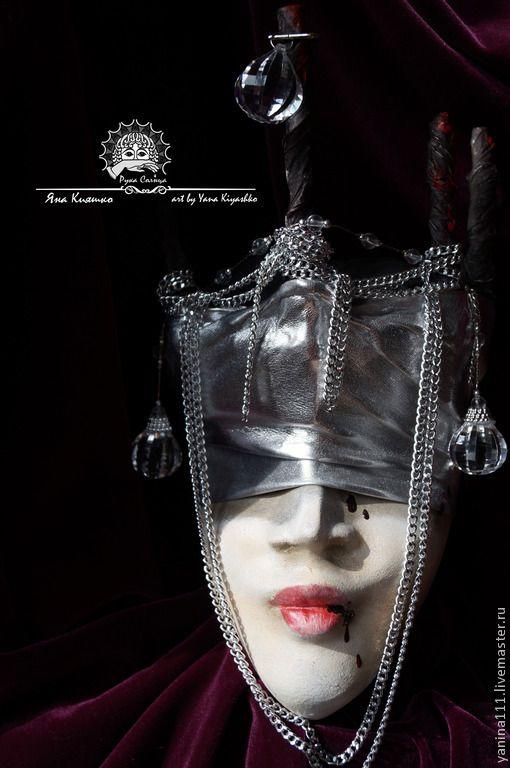 """Купить """"Поверженная темная королева"""" (Маска интерьерная тематическая) ПРОДАНО - серебряный, фантазийный сюжет, фантазия"""