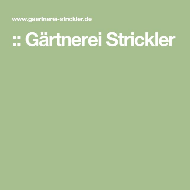 :: Gärtnerei Strickler