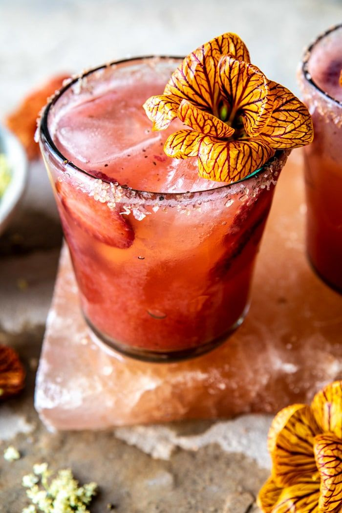 Strawberry Hibiscus Margarita Recipe Tequila drinks