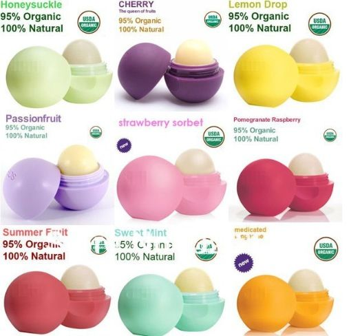 Eos~Love these lip balms!!. get me any of these (except the sweet mint flavor I have that one)