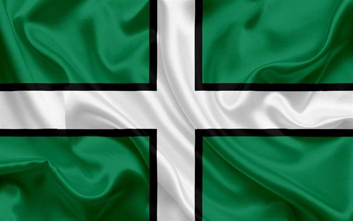 Scarica sfondi Contea di Devon, Bandiera, Inghilterra, bandiere delle contee inglesi, Bandiera del Devon, British Contea di Bandiere, di seta, bandiera, Devon