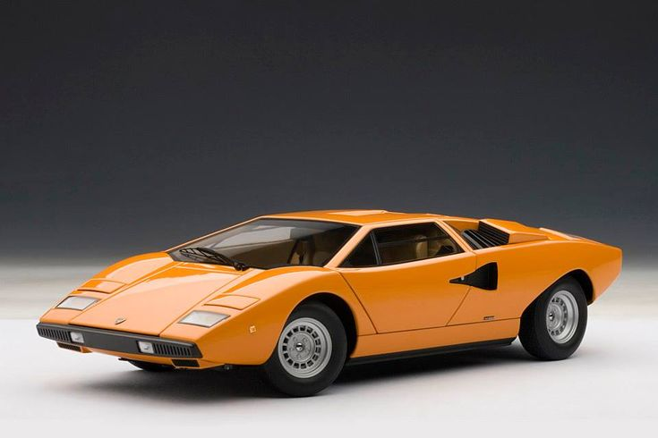 autoart lamborghini countach lp400 orange 74647 in 1 18 scale orange lps and lamborghini