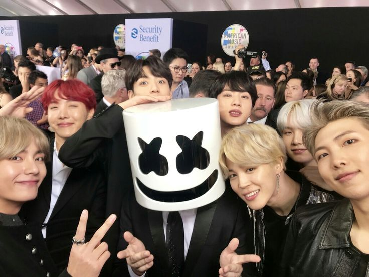 BTS with marshmello ❤ BTS At The AMAs!! (It feels unreal, but it's too real~ I'm sorry is this a dream? HISTORY, I REPEAT HISTORY HAS BEEN MADE! Our boy's, ARMYs love you so much! We are so so so proud! Thank you ARMYs, thank you BTS, thank you everyone who made this dream come true, thank YOU and love yourself~~! 171119) #BTS #방탄소년단