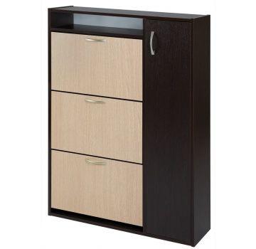 Шкаф обувной КОМФОРТ ШК-3 (венге+беленый дуб)