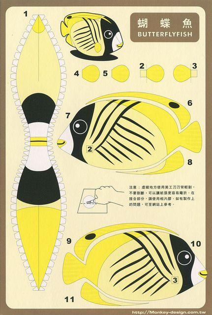 Butterfly Fish - Cut Out Postcard | Flickr: Intercambio de fotos
