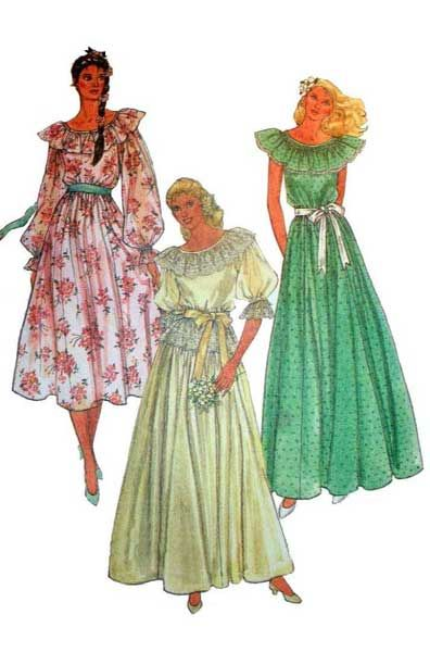 Uncut McCall's 7941 Wedding Gown or Bridesmaids' Dress Sewing Pattern, Optional Smocking, Misses' Size 8 Bust 31 1/2 BOHO Style