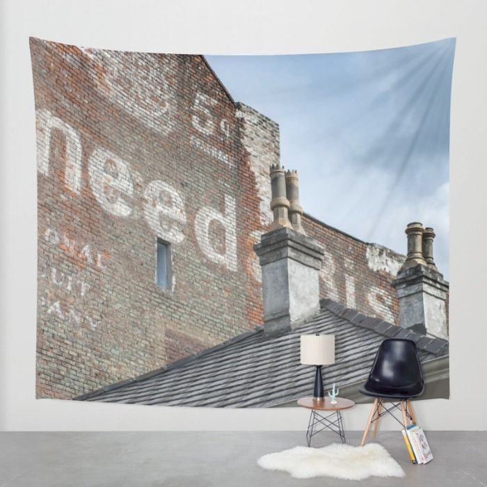 NEED Vintage Signage Modern Wall Tapestry