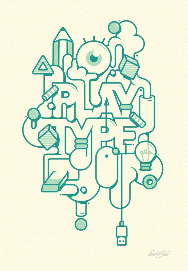 Typographic Illustrations. André Beato is a graphic designer and illustrator, born and grown up in Lisbon, Portugal, currently living and working in London