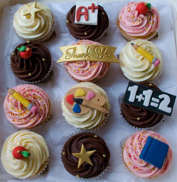 """""""Thank You"""" Teacher Cupcakes"""