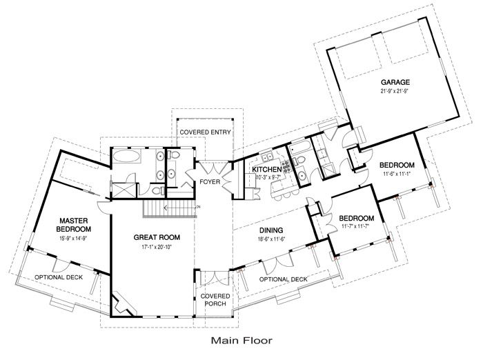 20 best floor plans images on pinterest plan plan, floor plans Home Depot Deck Plans the salish home package from linwood homes is a modern design with a smart floor plan home depot deck plans