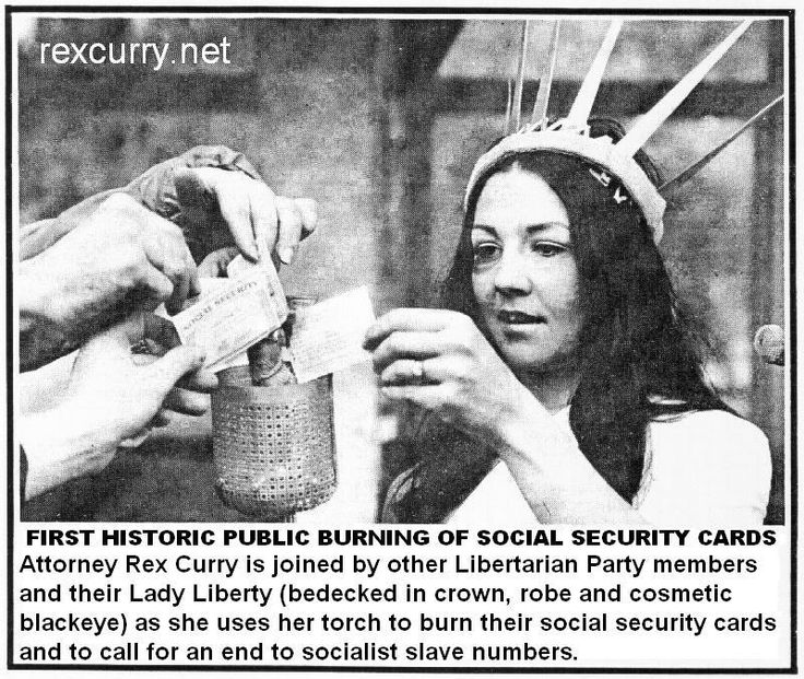 SOCIAL SECURITY CARD NUMBERS MUST STOP it is nazism, fascism, & socialism. Socialist slave photograph shows first historic public burning of social security cards with Attorney Rex Curry http://rexcurry.net/ssntp3.jpg social security http://rexcurry.net/SSNburning6.jpg social security card numbers