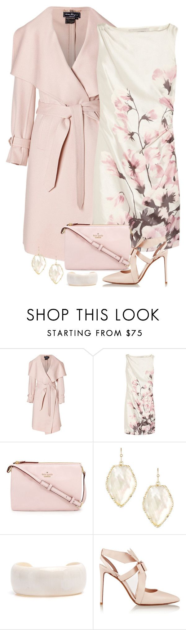 Flowers and Heels by terry-tlc on Polyvore featuring Valentino, Salvatore Ferragamo, Nicholas Kirkwood, Kate Spade and Kendra Scott