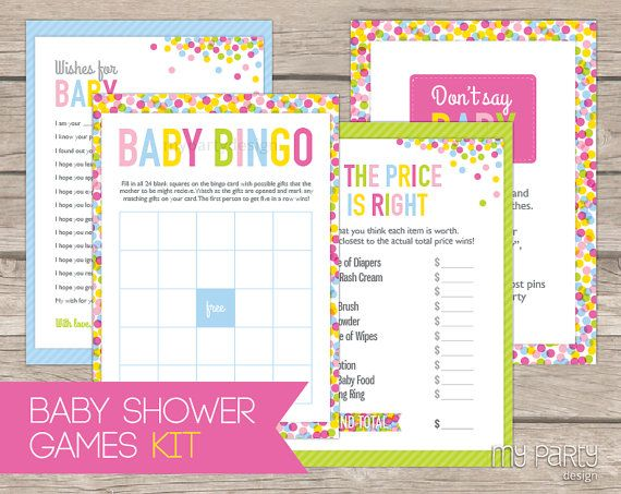 Baby Sprinkle  PRINTABLE Baby Shower Games by by mypartydesign