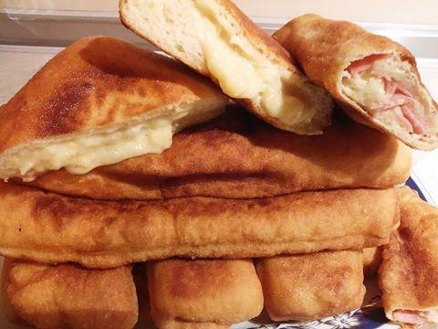 Πιροσκί με γέμιση πατάτα -τυρί- ζαμπόν !!! ~ ΜΑΓΕΙΡΙΚΗ ΚΑΙ ΣΥΝΤΑΓΕΣ
