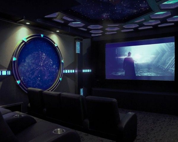 This Sci Fi Themed Home Theater Features A A Digital