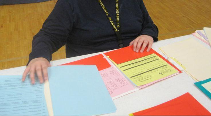 Stuffing Folders - Vocational Tasks - High School Special Education
