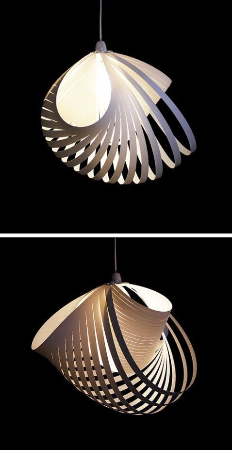 Nautilus Hanging Light // Kaigami. #lamp #pendant #chandelier #white #nautical