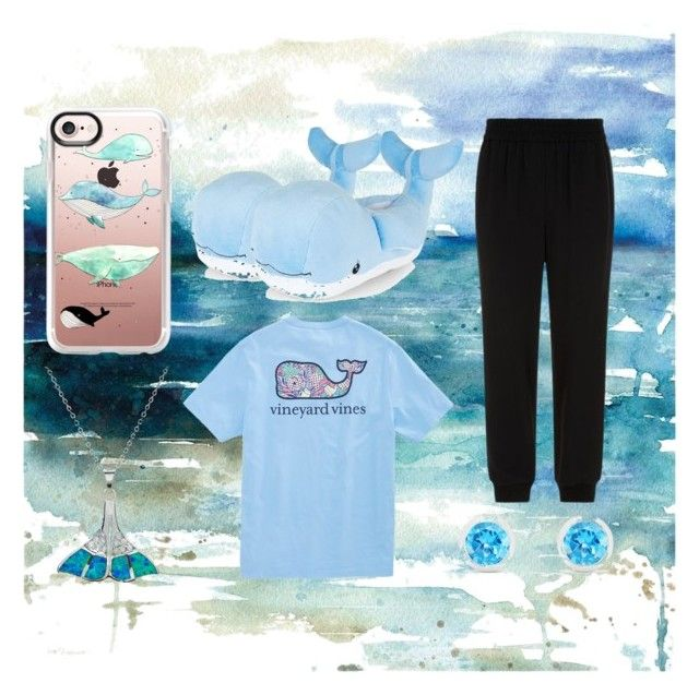 """""""Whale I'm comfy"""" by hirosa ❤ liked on Polyvore featuring DKNY, Casetify, La Preciosa and Effy Jewelry"""